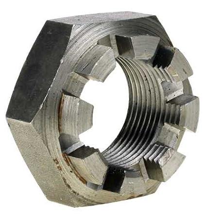 Reidl Kronenmuttern niedrige Form M 18 x 1, 5 mm DIN 979 04 Au (Stahl - gedreht) blank 1 Stü ck