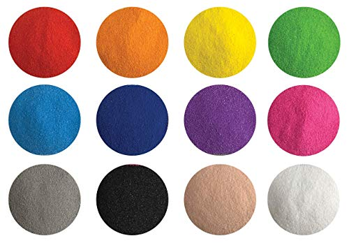 Color Of Sand (Creative Sand Store Fine Colored Sand [12 Colors 2.64 LBS] for Sand Art & Crafts, Decorative Sand for Terrariums & Sand)