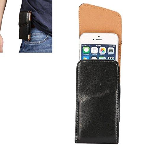 Mobile protection 4.0 pulgadas de piel de cordero universal Vertical Flip caja de cuero / bolsa de cintura con Rotatable espalda Splint para iPhone 5 & 5s & SE & SE