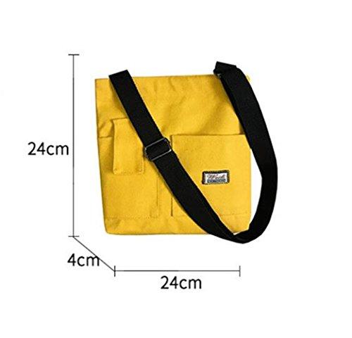per Studente grande borsa con tela per capacità Zaino più giallo borsa solare a donna Casual di tracolla 4wFSZAqv