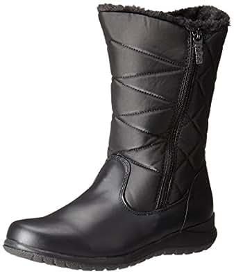 Amazon.com | totes Women's Edgen Zip Snow Boot, Black, 8 M