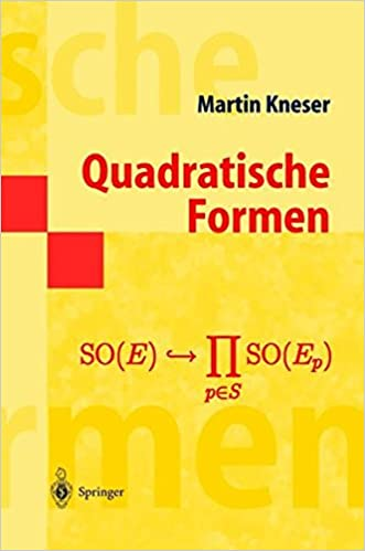 Kirjat google download pdf Quadratische Formen (Springer-Lehrbuch Masterclass) (German Edition) by Martin Kneser PDF 3540646507