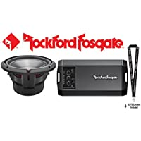 Rockford Fosgate P3D2-12 Punch P3 12 subwoofer w/dual 2-ohm voice coils and Rockford Fosgate Power T750X1bd Compact mono subwoofer amplifier 750 watts RMS x 1 at 1 to 2 ohms & SOTS Lanyard