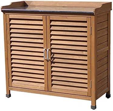 蓋防水、調節可能なパーティション収納ボックスボックスガーデン屋外亜鉛メッキドアハンドル収納ボックスガーデン家具、シャッターデザインシンプルでモダンなガーデン収納ボックス