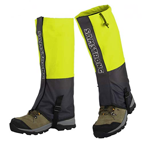roof Snow Boot Gaiters Shoes Cover for Men & Women Hiking, Hunting, Climbing, Walking, Cycling, Snowshoeing (Fluorescent Yellow Adults) ()