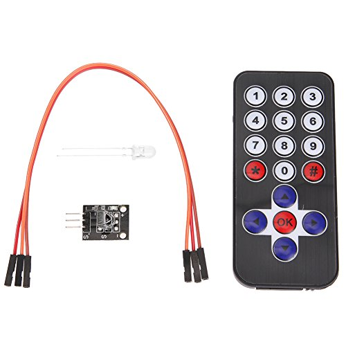Alloet Infrared Wireless Remote Control Module Kits + 38 KHZ Modulation Signals Receiving Module
