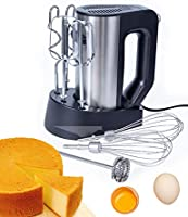 WantJoin Hand Mixer 2* Egg Beater, 2*Dough Hook,2*Balloon Whisk ,1*Milk Frother Ergonomic Grip, and Turbo Button +Stand...