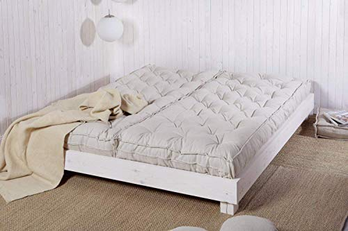 Wool Mattress in 2 Pieces - Side By Side Set Up/Custom Sizes & Fabrics Available