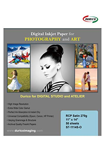 - RCP Supreme Satin 270gsm Digital Inkjet Paper for Photography and Art (11-x-14)