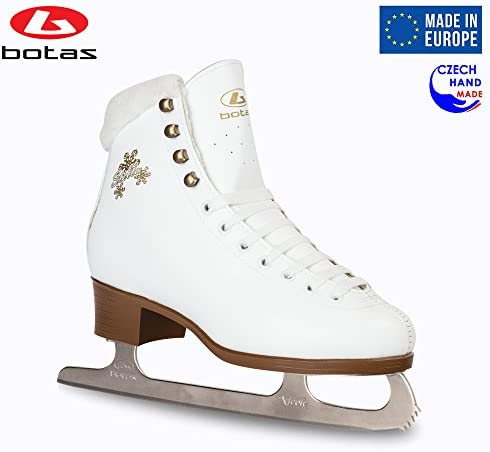 Botas – Model Stella Made in Europe Czech Republic Figure Ice Skates for Women, Girls, Kids Nicole Blades White Color