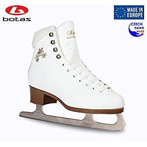 Botas Model: Stella/Made in Europe (Czech Republic) / Figure Ice Skates for Women, Girls, Kids/Nicole Blades/White Color