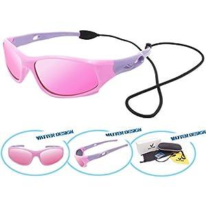 VATTER TR90 Unbreakable Polarized Sport Sunglasses For Kids Boys Girls Youth 816pinkpurple