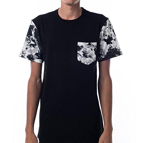 Asphalt Yacht Club Clash Pocket T-Shirt in Black