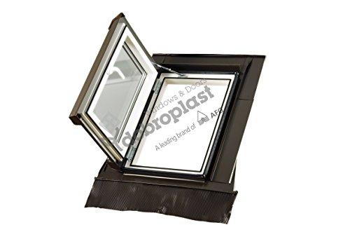 AFG Schweiz Skylight Kunststoff Dachfenster Premium Loft Warmdach 45 x 73 mit Eindeckrahmen Schwingfenster Dachflächenfenster