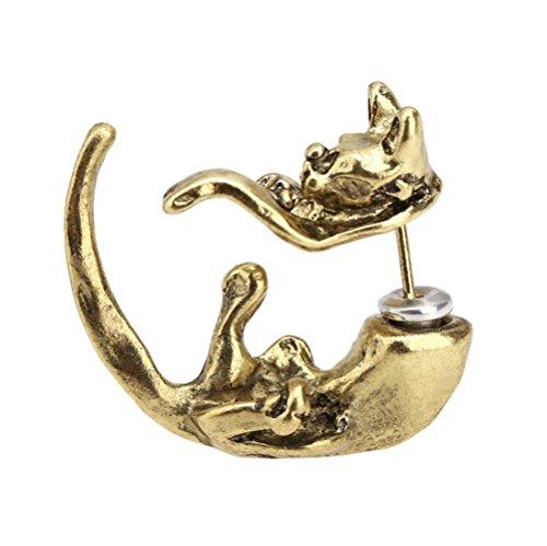 Winter's Secret Fashion Trend Enchanting Bronze Fox Stud Earring (Earrings Rhino)