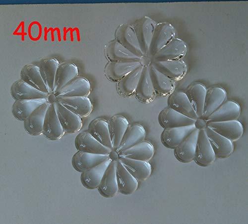 ZAMTAC 50pcs/lot 40mm Crystal Glass Rosette Chandelier Beads Crystal Prism Part Beads