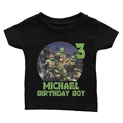 Custom Teenage Mutant Ninja Turtles Birthday Shirt]()