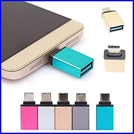 FEDUS USB Type C OTG Adapter for All Type C Smartphone Pack of 1  Colour May Very Adapters