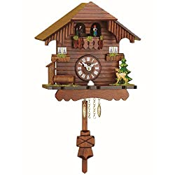 Black Forest Clock Black Forest House, turning dancers, incl. battery