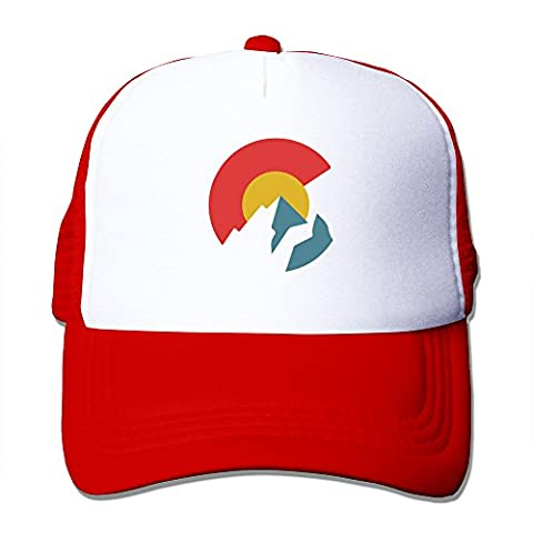 Colorado Flag Red Mesh Unisex Adult-one Size Snapback Trucker Hats