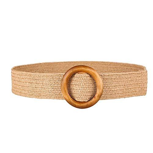 - etateta Braided Stretch Elastic Belt, Women Braided Elastic Stretch Woven Belt for Jeans, Trouser,Dress