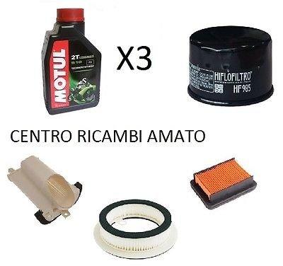 Tecneco Kit filtre à huile + 3filtres air + 3Lt Huile motul Yamaha T-Max 5002008/2009