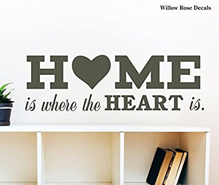 Home Is Where The Heart Is Wall Decals Welcome Home Family Quotes