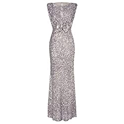 Sleeveless Sequin Long Dress