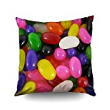 jelly bean cotton candy machine - Capsceoll Rainbow Jellybean Candy Jelly Beans Cushion Decorative Throw Pillow Case 16X16Inch,Home Decoration Pillowcase Zippered Pillow Covers Cushion Cover with Words for Book Lover Worm Sofa Couch