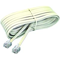 Softalk 48107 Phone Line Cord 15-Feet Ivory Landline Telephone Accessory