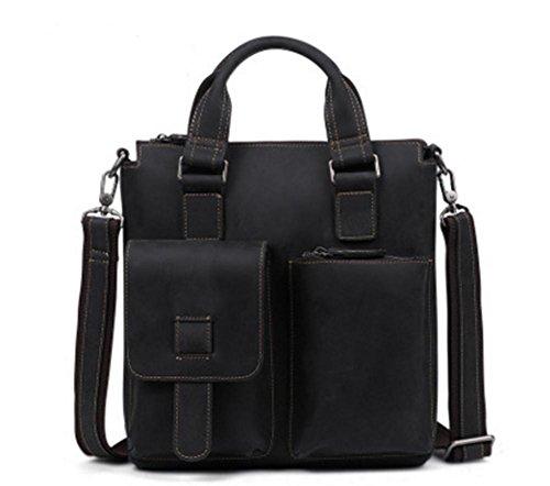 ZXH neue Crazy Horse Leder Retro Mann Tasche koreanische Casual Business Herren Leder Handtasche Mode Schulter Messenger Bag C z8u397IBG