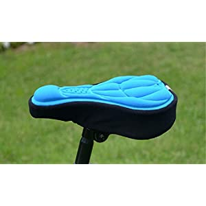 Andget Mountain Bicycle Saddle Seat Gel Pad Cushion Cover Airy Comfortable 290mm*170mm Blue