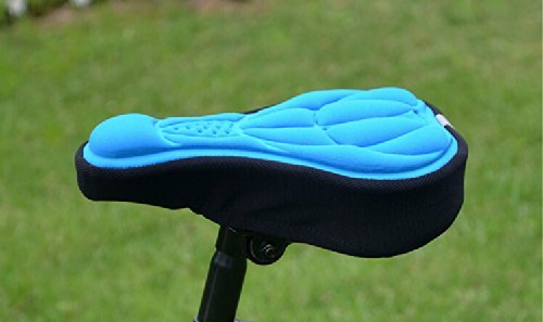 Andget Mountain Bicycle Saddle Seat Gel Pad Cushion Cover Airy Comfortable 290mm*170mm Blue - Safety Bingo