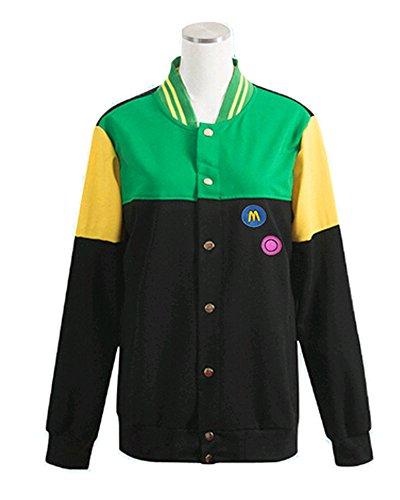 Ya Cos Free  Iwatobi Swim Club Makoto Tachibana Iwatobi High School Uniform Costume Green