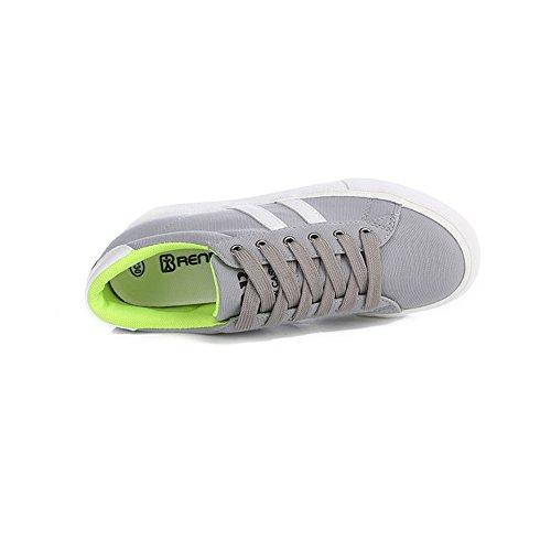 Renben Vrouwen Platform Basic Casual Espadrilles Canvas Mode Sneakers Schoenen 8226 Grijs