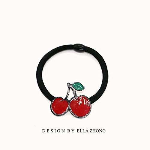 (~ ~ After dinner fruit meal strawberry pineapple cherry hair rope rope cute Japanese Korean jewelry hair jewelry for women girl lady)