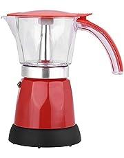 Fdit Cafetera Eléctrica de Gran Capacidad Maquina Cafetera para Hacer Café en Casa Oficina Aire Libre 300ml / 480W(Rojo)