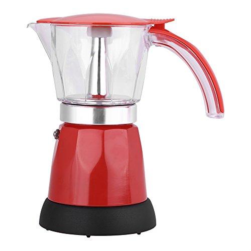 Cafetera eléctrica, 300 ml / 6 tazas de café exprés de aleación de aluminio, cafetera Moka, estufa de cocina espresso…