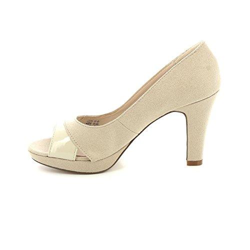 Beige By Dettaglio Con Scarpe In Estradà Tacco amp;scarpe Vernice Scarpe Col Hwqfvd