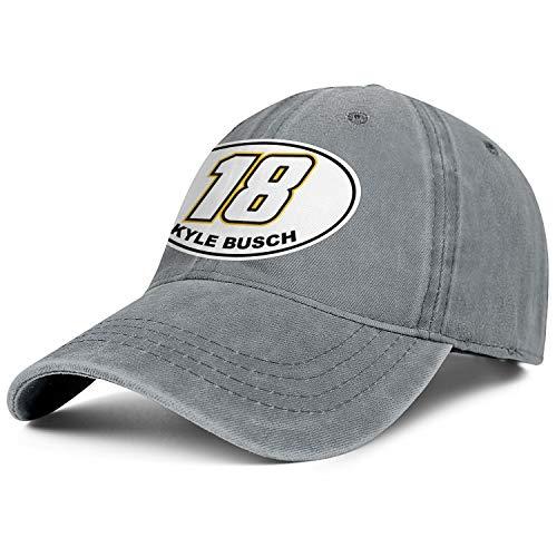 NIANLJHDe Unisex Women'sComfortable Dad Hat Washed Kyle-Busch-#18-Logo- Camping Baseball Hat -
