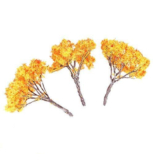 20Pcs Maple Tree HO Architectural Model Tree Scenery Trees Railroad Layouts Height 6.5cm