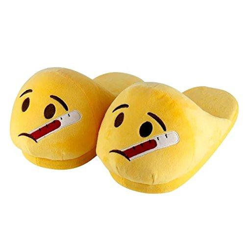 KateDy Cute Emoji Emotion Children Adult Slippers Shoes Warm Funny Emoji Slippers Winter Plush Slide Slipper Great for (Baby Spock Costume)