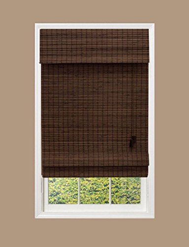 Espresso Flatweave Roman Shade, 72 in. Length (Price Varies by Size)