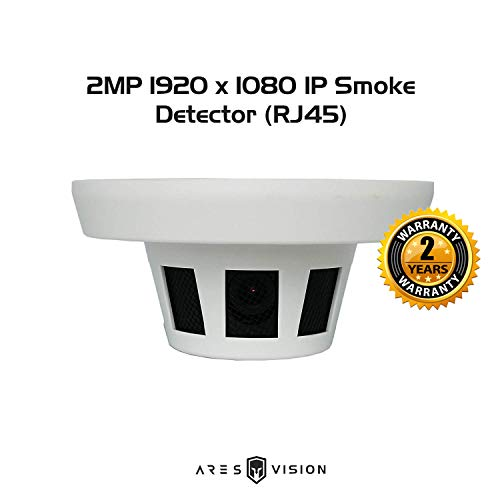 Ares Vision 2MP IP Network Hidden Covert Smoke Detector CCTV Camera (RJ45) (2MP IP) ()