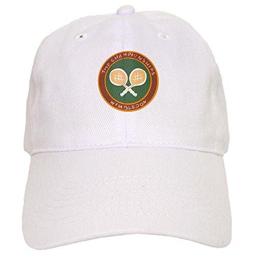 (CafePress Tennis Baseball Cap with Adjustable Closure, Unique Printed Baseball Hat White)