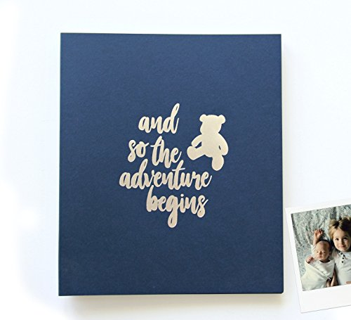 Baby Shower Decorations Boy Navy Baby Shower Guest Book For Baby Shower Polaroid Guest Book Photo Booth Props Baby Shower 8.5x7, 130 pages. Baby Shower Guestbook Baby Shower Advice Cards Book (Navy) ()