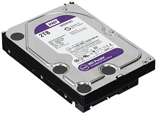 WD Purple 2TB Surveillance Hard Disk Drive - 5400 RPM Class SATA 6 Gb/s 64MB Cache 3.5 Inch - WD20PURZ