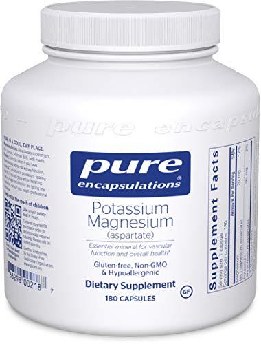 Pure Encapsulations Potassium - Pure Encapsulations - Potassium Magnesium (Aspartate) - Hypoallergenic Supplement to Support Heart, Muscular, and Nerve Health* - 180 Capsules