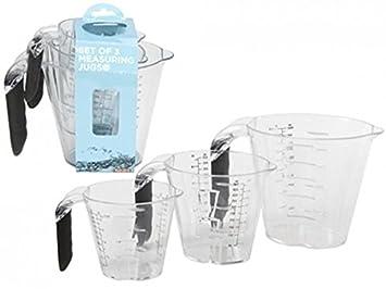 Amazon.com: 3 piezas Juego de jarra medidora de apto para ...