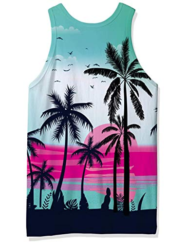 Adicreat Men's 3D Printed Funny Tank Tops Sleeveless Round Neck Vest T-Shirt for Gym Sport and Casual